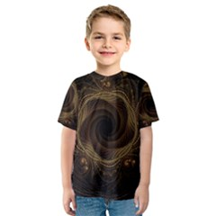 Beads Fractal Abstract Pattern Kids  Sport Mesh Tee