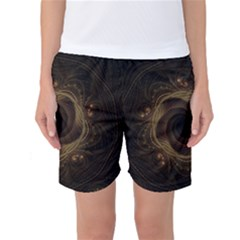 Beads Fractal Abstract Pattern Women s Basketball Shorts