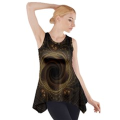 Beads Fractal Abstract Pattern Side Drop Tank Tunic