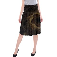 Beads Fractal Abstract Pattern Midi Beach Skirt