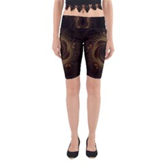 Beads Fractal Abstract Pattern Yoga Cropped Leggings