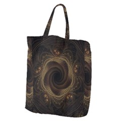 Beads Fractal Abstract Pattern Giant Grocery Zipper Tote