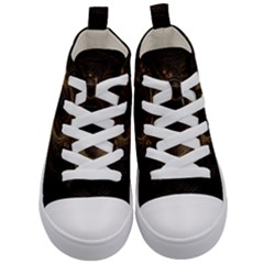Beads Fractal Abstract Pattern Kid s Mid Top Canvas Sneakers