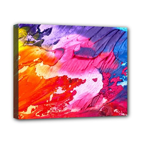 Abstract Art Background Paint Canvas 10  X 8