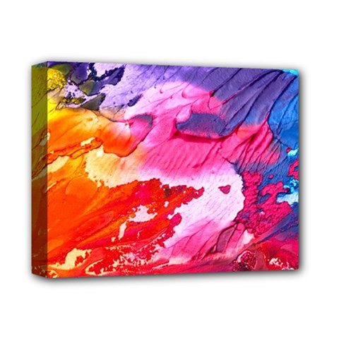 Abstract Art Background Paint Deluxe Canvas 14  X 11