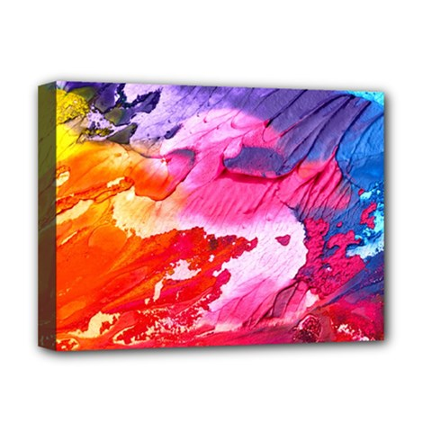 Abstract Art Background Paint Deluxe Canvas 16  X 12