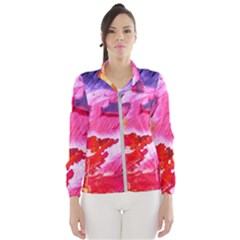 Abstract Art Background Paint Wind Breaker (women)