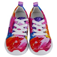 Abstract Art Background Paint Kids  Lightweight Sports Shoes