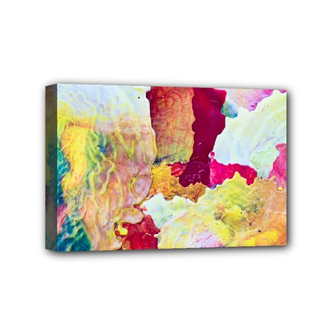 Art Detail Abstract Painting Wax Mini Canvas 6  X 4