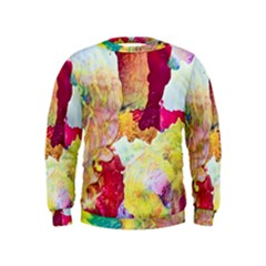 Art Detail Abstract Painting Wax Kids  Sweatshirt