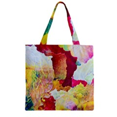 Art Detail Abstract Painting Wax Zipper Grocery Tote Bag by Nexatart