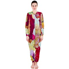 Art Detail Abstract Painting Wax Onepiece Jumpsuit (ladies)