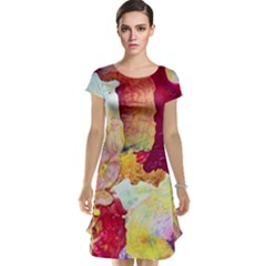 Art Detail Abstract Painting Wax Cap Sleeve Nightdress