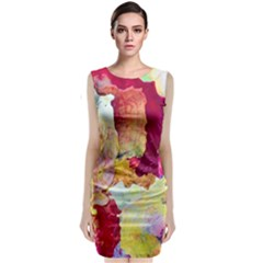 Art Detail Abstract Painting Wax Classic Sleeveless Midi Dress