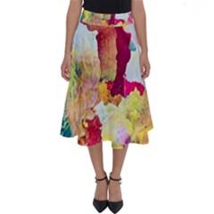Art Detail Abstract Painting Wax Perfect Length Midi Skirt
