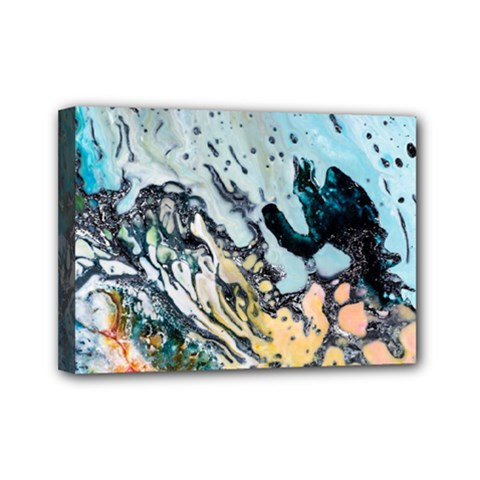 Abstract Structure Background Wax Mini Canvas 7  X 5