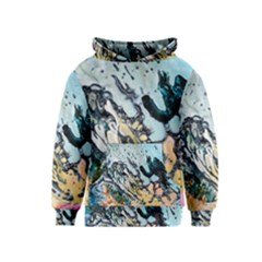 Abstract Structure Background Wax Kids  Pullover Hoodie