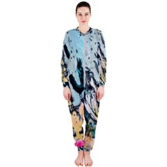 Abstract Structure Background Wax Onepiece Jumpsuit (ladies)