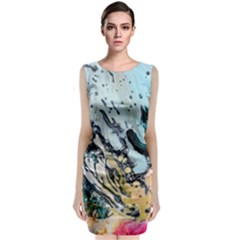 Abstract Structure Background Wax Classic Sleeveless Midi Dress