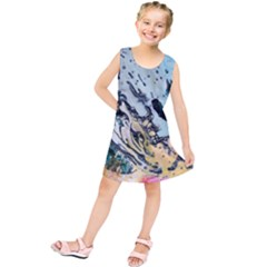 Abstract Structure Background Wax Kids  Tunic Dress
