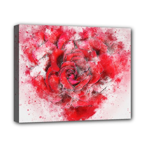 Flower Roses Heart Art Abstract Canvas 10  X 8