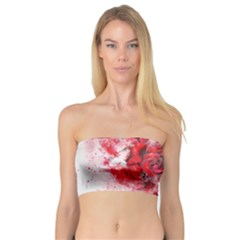 Flower Roses Heart Art Abstract Bandeau Top