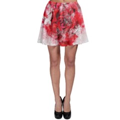 Flower Roses Heart Art Abstract Skater Skirt