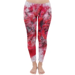 Flower Roses Heart Art Abstract Classic Winter Leggings