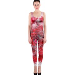 Flower Roses Heart Art Abstract One Piece Catsuit