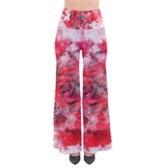 Flower Roses Heart Art Abstract Pants