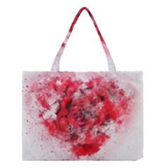 Flower Roses Heart Art Abstract Medium Tote Bag