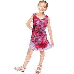Flower Roses Heart Art Abstract Kids  Tunic Dress