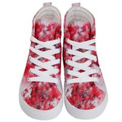 Flower Roses Heart Art Abstract Kid s Hi Top Skate Sneakers