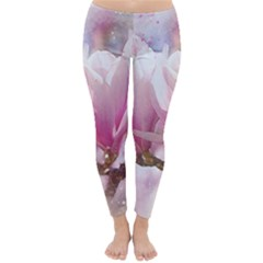 Flowers Magnolia Art Abstract Classic Winter Leggings