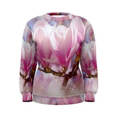 Flowers Magnolia Art Abstract Women s Sweatshirt