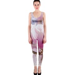 Flowers Magnolia Art Abstract One Piece Catsuit