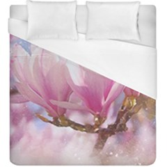 Flowers Magnolia Art Abstract Duvet Cover (king Size)