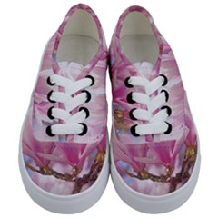 Flowers Magnolia Art Abstract Kids  Classic Low Top Sneakers