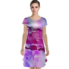Background Crack Art Abstract Cap Sleeve Nightdress