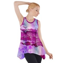 Background Crack Art Abstract Side Drop Tank Tunic