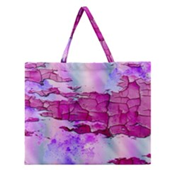 Background Crack Art Abstract Zipper Large Tote Bag