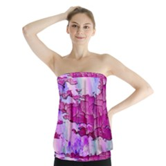 Background Crack Art Abstract Strapless Top