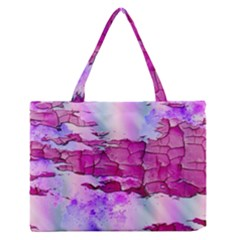 Background Crack Art Abstract Zipper Medium Tote Bag