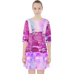 Background Crack Art Abstract Pocket Dress