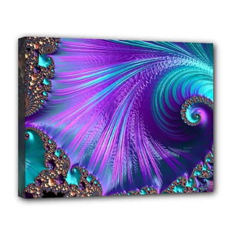 Abstract Fractal Fractal Structures Canvas 14  X 11