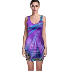 Abstract Fractal Fractal Structures Bodycon Dress