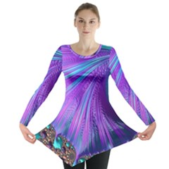 Abstract Fractal Fractal Structures Long Sleeve Tunic