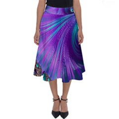 Abstract Fractal Fractal Structures Perfect Length Midi Skirt