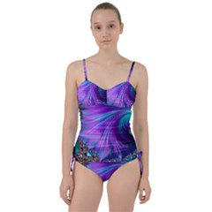 Abstract Fractal Fractal Structures Sweetheart Tankini Set