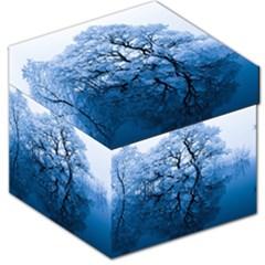 Nature Inspiration Trees Blue Storage Stool 12